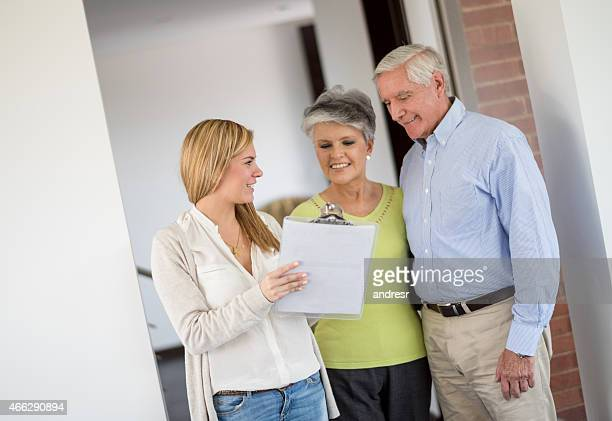 Retired couple buying a house
