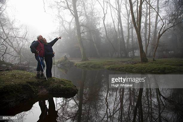 Retired Couple by River