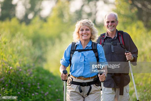 Retired Couple Gone Hiking