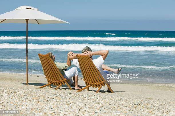 retired couple in chairs