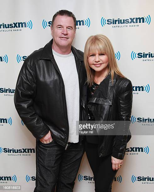 Retired detective Michael Jeffries and wife actress Pia Zadora visit SiriusXM Studios on February 6 2013 in New York City