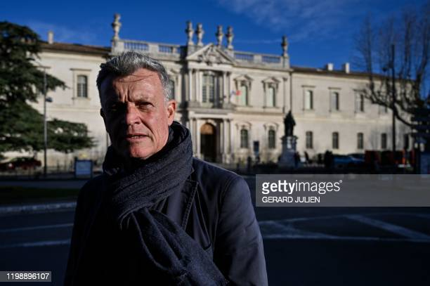 """Retired General Bertrand de la Chesnais, unlabelled candidate representing the """"Union pour Carpentras"""" list in the upcoming municipal elections,..."""