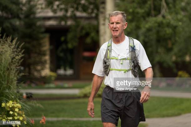 Retired general Stanley McChrystal attends the fourth day of the annual Allen Company Sun Valley Conference July 14 2017 in Sun Valley Idaho Every...