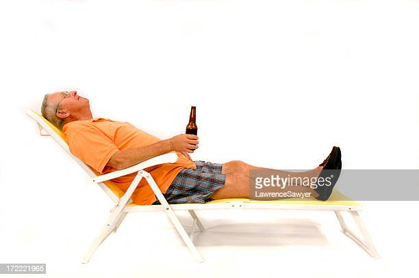 Ehemaliger Mann nimmt eine Pause