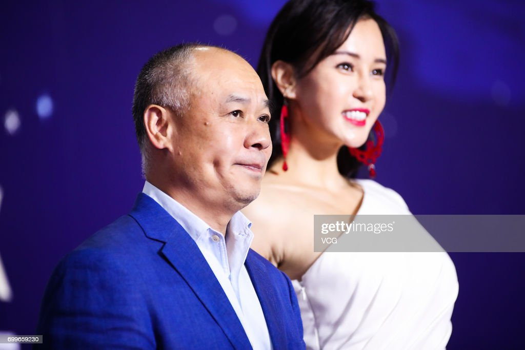 Retired gymnast and entrepreneur Li Ning, yoga model and actress Miya Muqi arrive at the red carpet of Gala Night of Jackie Chan Action Movie Week during the 20th Shanghai International Film Festival (SIFF) on June 22, 2017 in Shanghai, China.