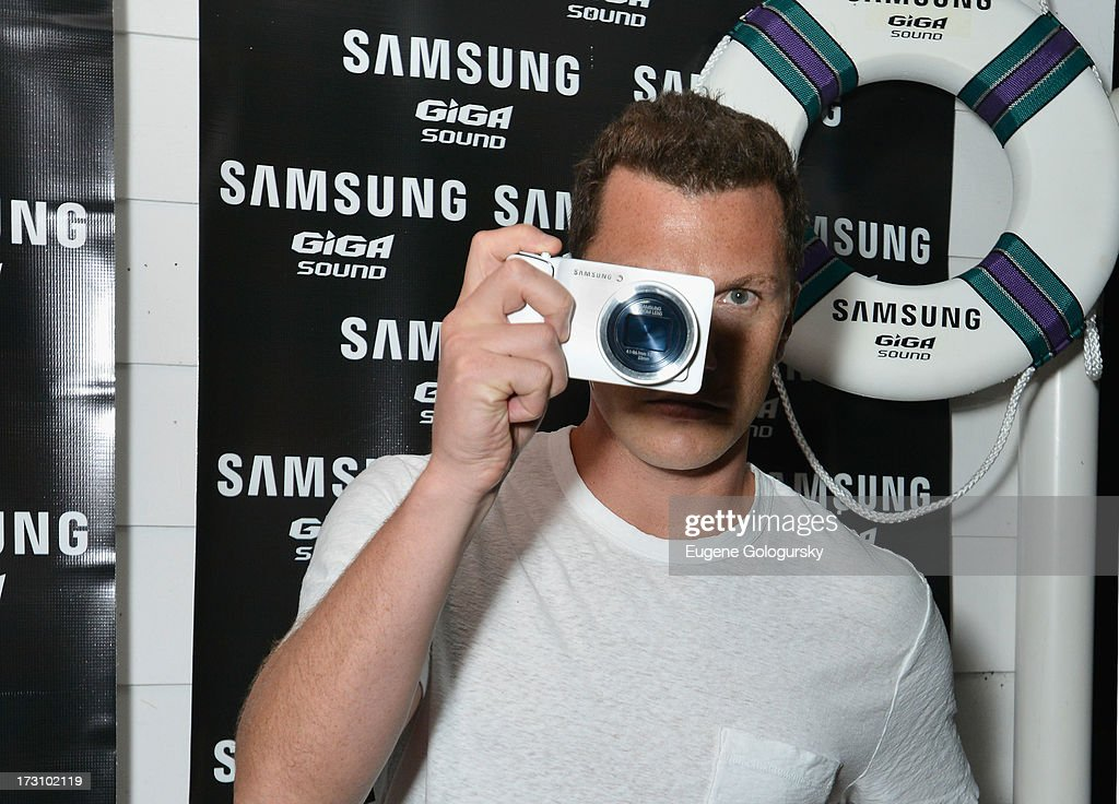Retired hockey player Sean Avery at The Surf Lodges Summer DJ Series to launch the new Samsung Giga speaker system in Montauk, NY on July 7th, 2013on July 6, 2013.