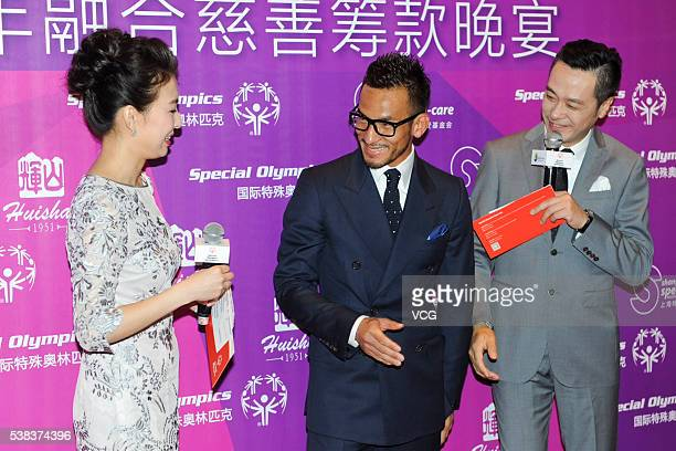 Retired Japanese Football Player Hidetoshi Nakata attends the Special Olympics 2016 Unity Fundraising Gala Dinner on June 5 2016 in Shanghai China