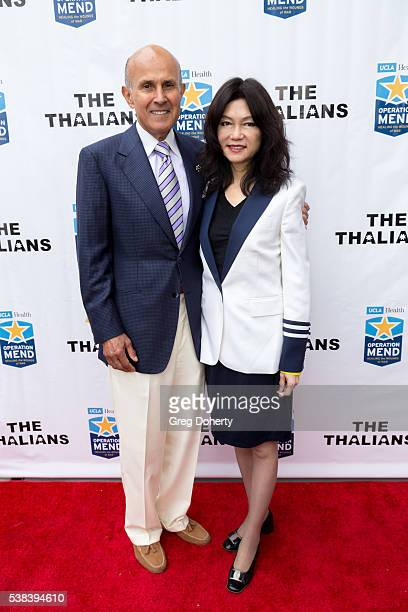 Retired Los Angeles County Sheriff Lee Baca and his wife, Carol Chiang, attend The Thalians Presidents Club Anchors Away Brunch at the California...