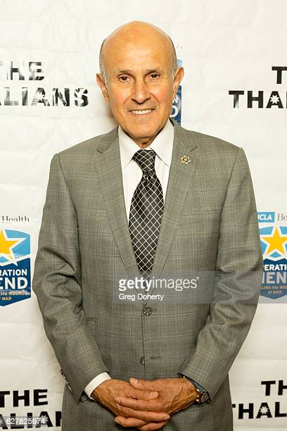 "Retired Los Angeles County Sheriff Lee Baca arrives for The Thalians Presidents Club's ""Holiday Brunch Spectacular"" at Montage Beverly Hills on..."