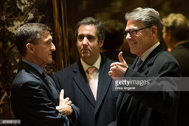 Retired Lt Gen Michael Flynn Presidentelect Donald Trump's choice for National Security Advisor Michael Cohen executive vice president of the Trump...