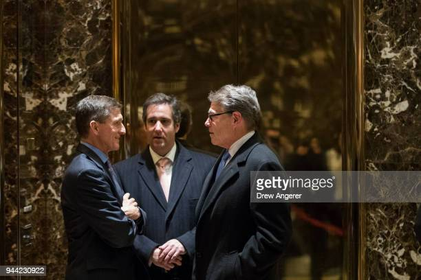Retired Lt Gen Michael Flynn Presidentelect Donald Trump's choice for National Security Advisor Michael Cohen personal lawyer for Presidentelect...