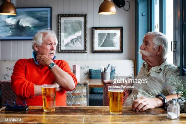 retired men in pub