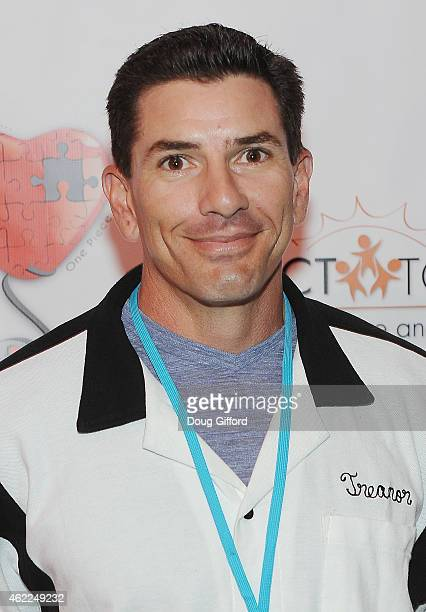 Retired MLB catcher Matt Treanor poses before the 4th Annual Stars and Strikes Celebrity Bowling Tournment at Bowlmor Lanes at Anaheim Garden Walk on...