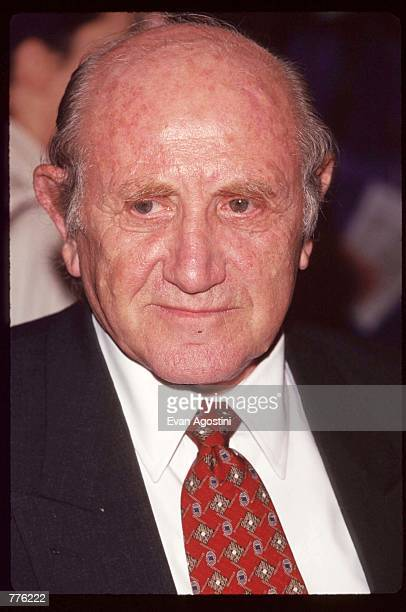 Retired Mossad agent Peter Malkin stands at the premiere of the television movie The Man Who Captured Eichmann November 7 1996 in New York City The...