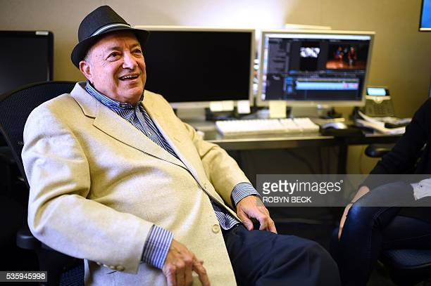 Retired motion picture industry attorney Bob Mirisch is interviewed by AFP at the Motion Picture Television Fund Country House a retirement community...