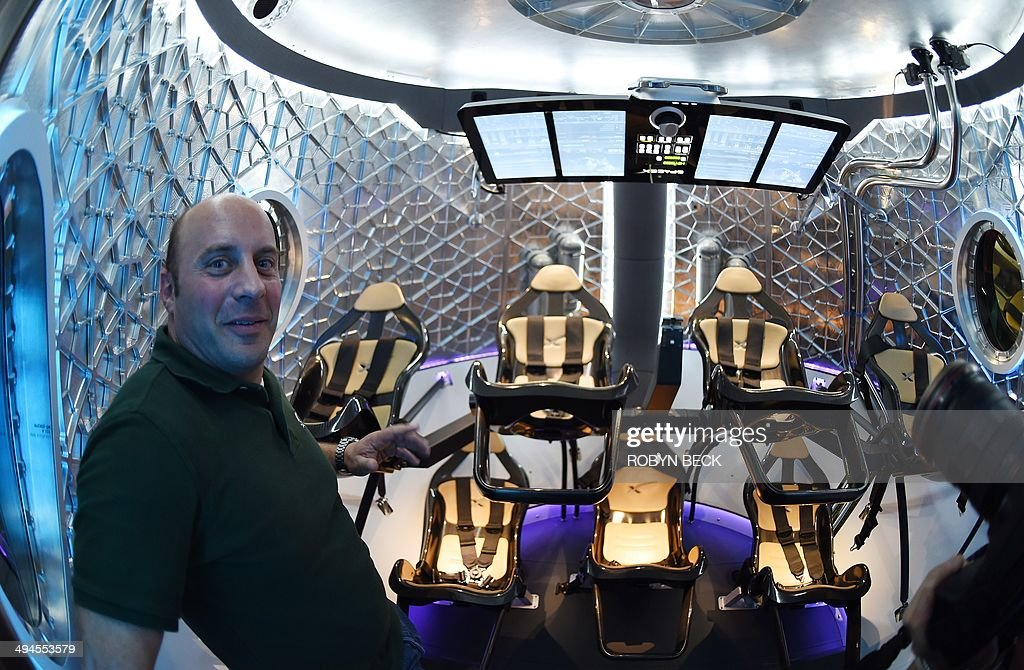 Retired NASA Astronaut And Current SpaceX Engineer Garrett Reisman Stands Inside SpaceXs New Seven Seat