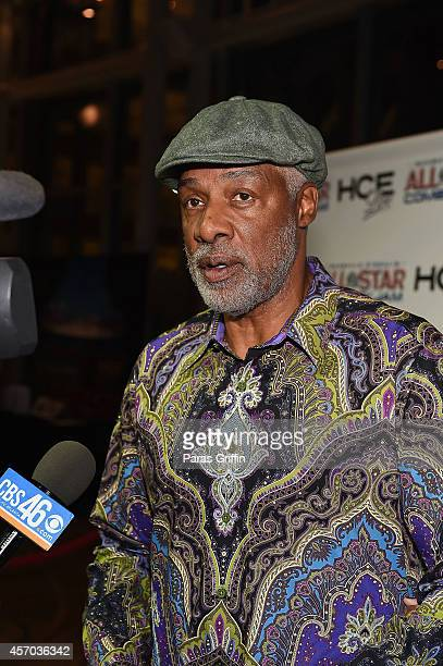 Retired NBA basketball player Julius 'Dr J' Erving attends the HCE Live presents Shaquille O'Neal All Star Comedy Jam at Cobb Energy Center on...