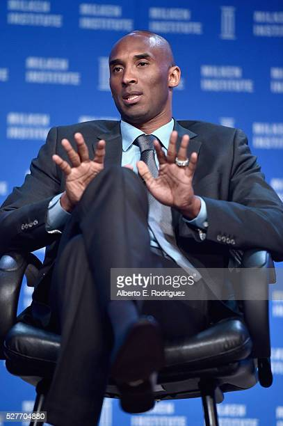 Retired NBA Champion CEO Kobe Inc Kobe Bryant speaks onstage during 2016 Milken Institute Global Conference at The Beverly Hilton on May 03 2016 in...