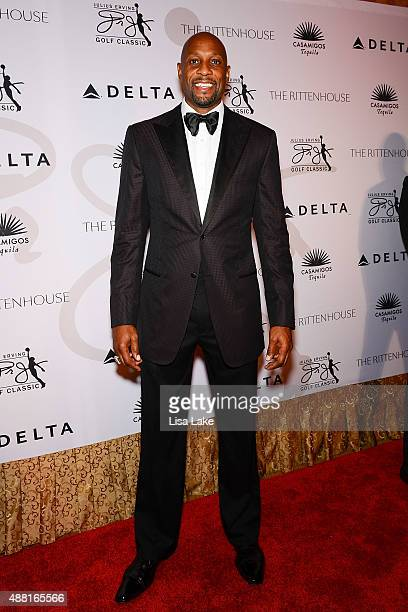 Retired NBA player Alonzo Mourning attends The Julius Erving 'Black Tie' Ball Event at The Rittenhouse Hotel on September 13 2015 in Philadelphia...