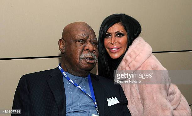 Retired NBA player Cal Ramsey and Mob Wives TV star Angela 'Big Ang' Raiola attend the 18th Annual MDA Muscle Team Gala at Pier 60 on January 6 2015...