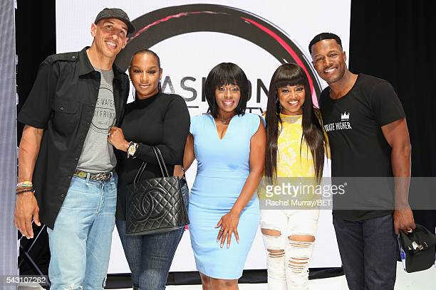 Retired NBA player Doug Christie TV personality Jackie Christie actress Stacii Jae Johnson recording artist/TV personality Shanice and Flex Alexander...
