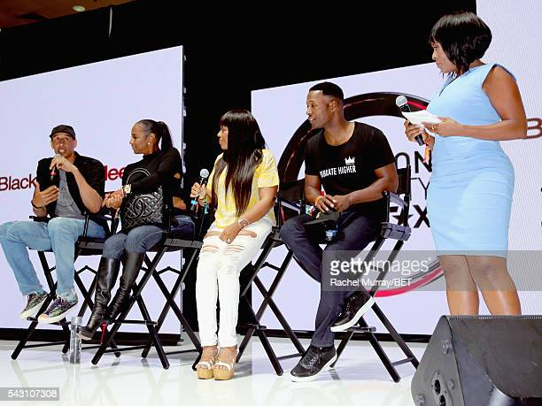 Retired NBA player Doug Christie TV personality Jackie Christie recording artist/TV personality Shanice actor Flex Alexander and actress Stacii Jae...