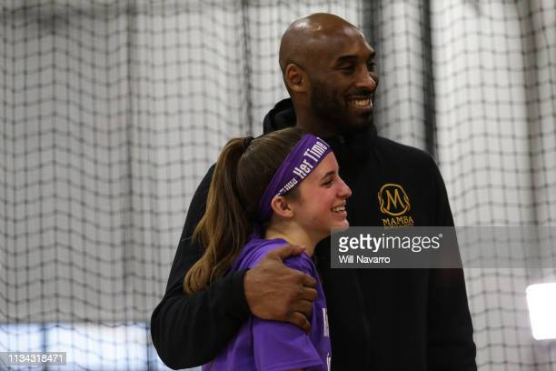 Retired NBA Player Kobe Bryant pose for a photo at the Her Time To Play basketball clinic hosted by JRNBA and WNBA with on March 28 2019 at Mamba...