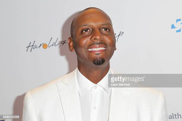 Retired NBA player Penny Hardaway attends 16th Annual Harold And Carole Pump Foundation Gala Arrivals at The Beverly Hilton Hotel on August 12 2016...