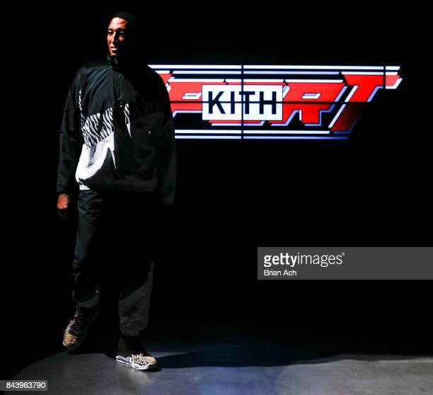 Retired NBA player Scottie Pippin walks the runway during the Kith Sport fashion show at the Classic Car Club on September 7 2017 in New York City