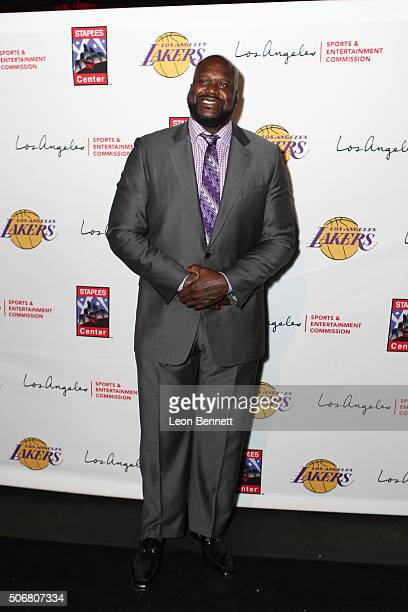 Retired NBA player Shaquille O'Neal attended the 12th Annual Lakers AllAccess at Staples Center on January 25 2016 in Los Angeles California
