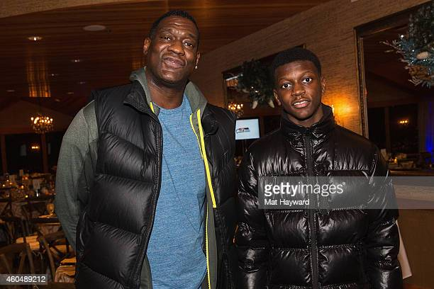 Retired NBA player Shawn Kemp and his son Jamon attend the FAM 1st FAMILY FOUNDATION Charity Event at The Edgewater Hotel on December 14 2014 in...