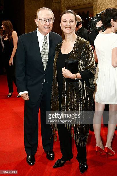 Retired newsreader Brian Henderson and his wife Mardi arrive at the ARIA Hall of Fame at the Regent Theatre on July 18 2007 in Melbourne Australia...