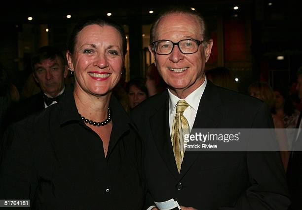 Retired newsreader Brian Henderson and his wife Mardi attend the world premiere of the staged production of Dirty Dancing at the Royal Theatre...