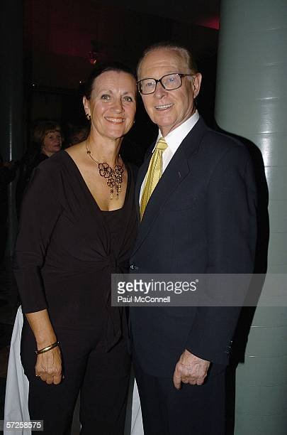 Retired newsreader Brian Henderson and his wife Mardi attend the opening night of On The Box at the Powerhouse Museum on April 5 2006 in Sydney...