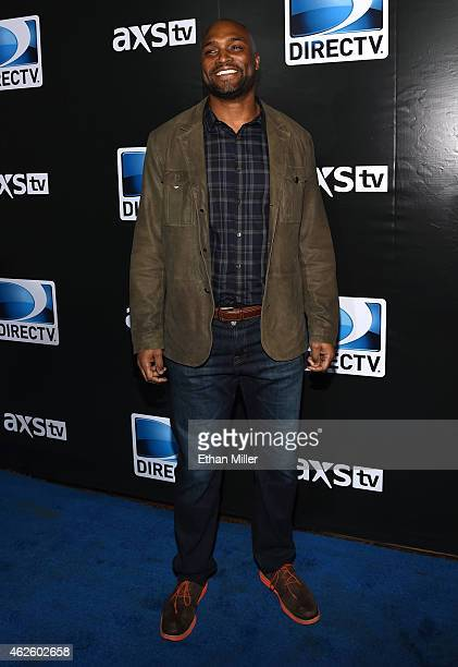 Retired NFL player Amani Toomer attends DirecTV Super Saturday Night hosted by Mark Cuban's AXS TV and Pro Football Hall of Famer Michael Strahan at...