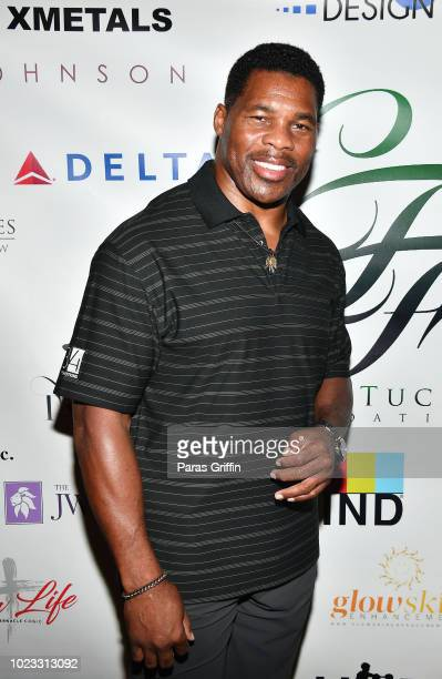 Retired NFL Player Herschel Walker attends the Chris Tucker Foundation Celebrity Golf Tournament at Stone Mountain Golf Club on August 25, 2018 in...