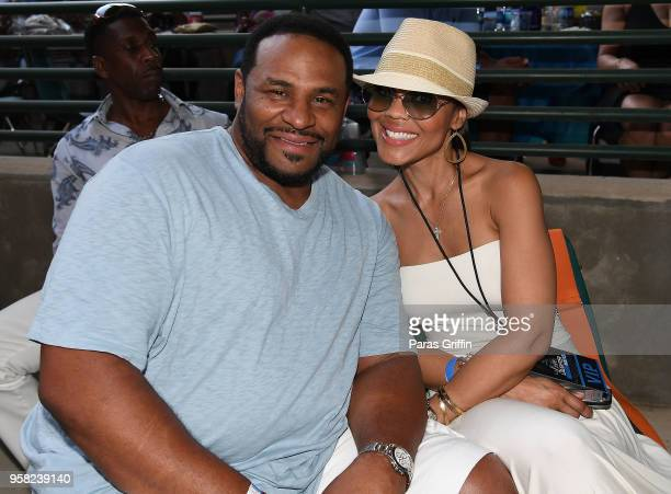 Retired NFL Player Jerome Bettis and his wife Trameka Boykin attend Wade Ford Summer Concert Series presents Love Laughter at Mable House Barnes...