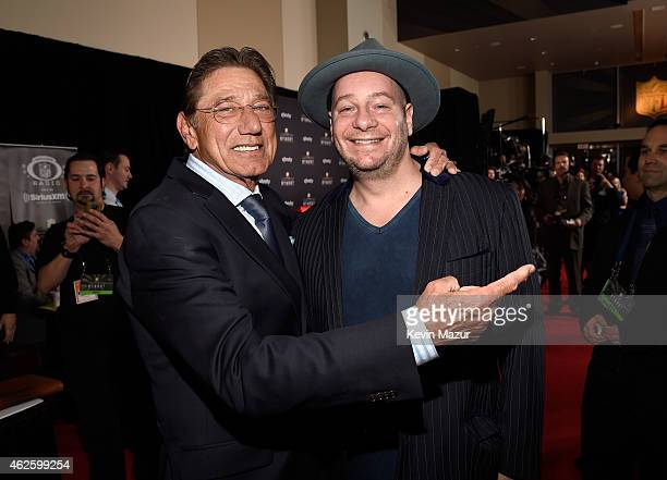 Retired NFL player Joe Namath and comedian Jeff Ross attend the 4th Annual NFL Honors at Phoenix Convention Center on January 31 2015 in Phoenix...