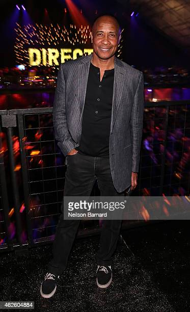 Retired NFL player Lynn Swann attends DirecTV Super Saturday Night hosted by Mark Cuban's AXS TV and Pro Football Hall of Famer Michael Strahan at...