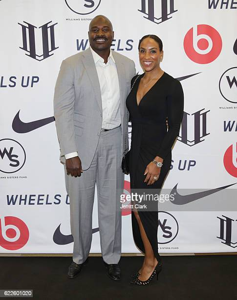 Retired NFL Player Marcellus Wiley and Annemarie Willey attend Healthy Compton Festival Kickoff VIP Reception on November 11 2016 in Compton...