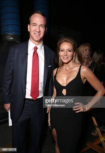 Retired NFL player Peyton Manning and singer Jewel attend The Comedy Central Roast of Rob Lowe at Sony Studios on August 27 2016 in Los Angeles...