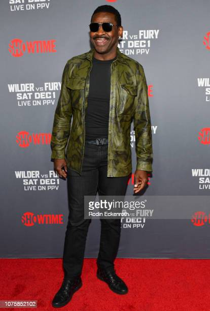 Retired NFL wide receiver Michael Irvin attends the Heavyweight Championship of The World Wilder vs Fury Premiere at Staples Center on December 01...