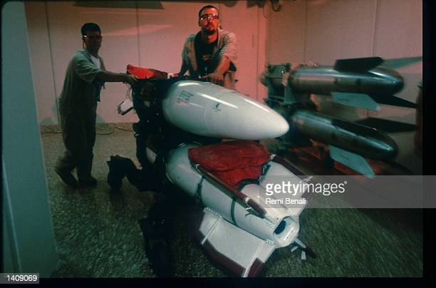 Retired nuclear weapons scheduled for disassembly arrive at the Pantex Plant March 1996 near Amarillo TX The Pantex Plant has dismantled about 50000...