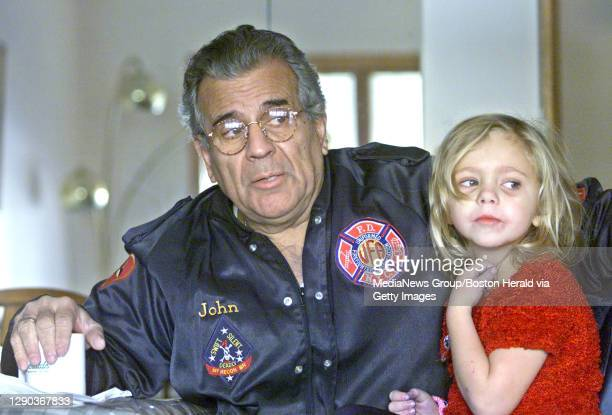 Retired NYC fire marshall John Knox with his daughter Emma Knox talk with reporter DAVE WEDGE about their experiences on the day of the flight 587...