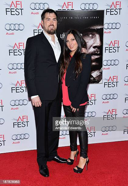 Retired Petty Officer 1st Class Marcus Luttrell and his wife Melanie Juneau Luttrell arrive at the AFI FEST 2013 Presented By Audi 'Lone Survivor'...