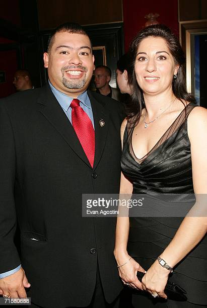 Retired Port Authority Police Detective William J Jimeno and his wife Allison attend the world premiere of Paramount Pictures' World Trade Center at...