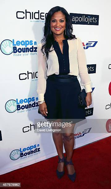 Retired pro boxer Laila Ali attends the CP3 Foundation Celebrity Server Dinner at Mastro's Steakhouse on October 26 2014 in Beverly Hills California