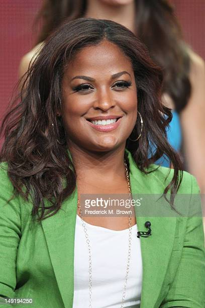 Retired Professional Boxer Laila Ali speaks onstage at the 'Stars Earn Stripes' panel during day 4 of the NBCUniversal portion of the 2012 Summer TCA...