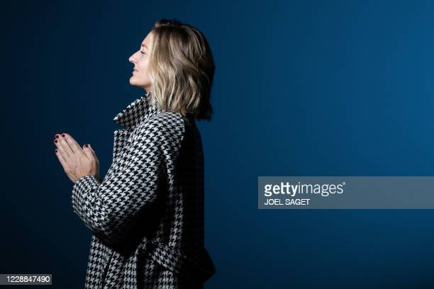 Retired professional French tennis player Mary Pierce poses during a photo session in Paris on October 2, 2020.