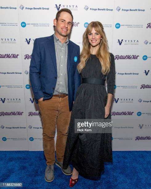 Retired professional tennis player Andy Roddick and actor Brooklyn Decker attend the 14th Annual Andy Roddick Foundation Gala at ACL Live on November...